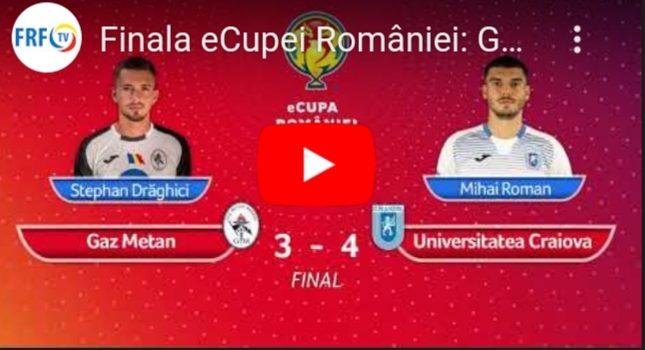 Gaz Metan Mediaș a pierdut eCupa României în finala cu ...   Gaz Metan Craiova