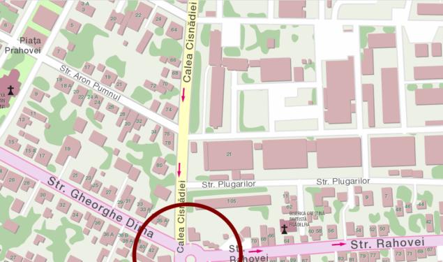 Sensul giratoriu de la intersecția Căii Cisnădiei și strada Gheorghe Dima va fi închis traficului pentru frezarea asfaltului vechi