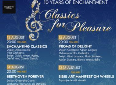 Începe a X-a ediție a festivalului Classics for Pleasure pe 13 august